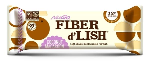 Picture of NuGo Fiber d'Lish Coconut Macaroon (16 Bars)